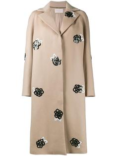 sequinned wool raglan coat Christopher Kane