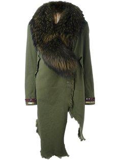 асимметричное пальто с декорированными рукавами Bazar Deluxe