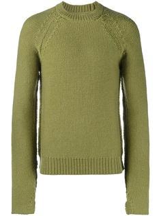 свитер с круглым вырезом и отделкой в рубчик Maison Margiela