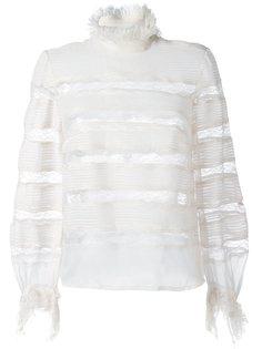 transparent panel lace blouse Isabel Marant