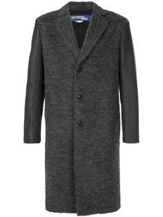 однобортное пальто с контрастными рукавами Junya Watanabe Comme Des Garçons Man