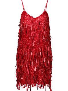 декорированное платье на тонких лямках Ashish