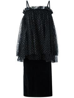 платье с присборенной отделкой Isa Arfen