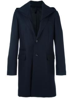 buttoned hooded coat Paolo Pecora