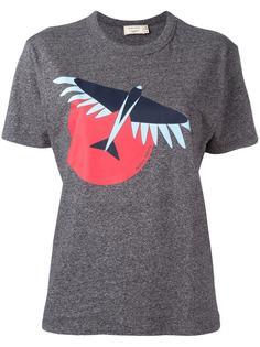 футболка с принтом птицы Maison Kitsuné