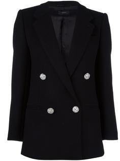 длинное двубортное пальто Joseph