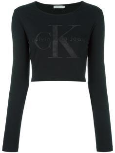 укороченная толстовка с логотипом Calvin Klein Jeans