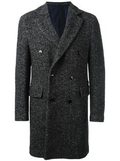 двубортное пальто  Mp  Massimo Piombo