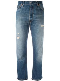 destroyed cropped jeans  Re/Done