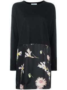 свободное платье с цветочным рисунком Blumarine