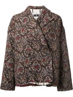 объемная куртка с цветочным узором Uma Wang