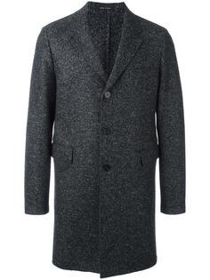 пальто с эффектом букле Emporio Armani