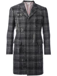 пальто в клетку Thom Browne