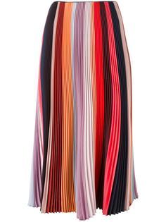 плиссированная юбка в полоску Paul Smith