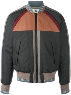 striped detailing bomber jacket Andrea Pompilio