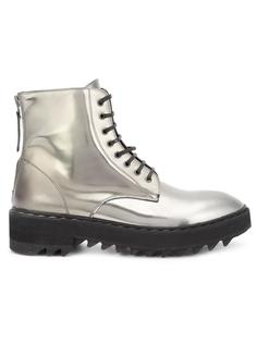 metallic lace-up boots Raparo