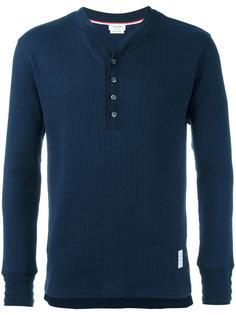 футболка с воротником-хенли Thom Browne