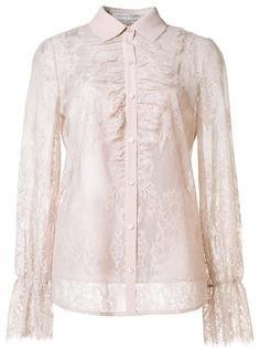 прозрачная кружевная рубашка Trina Turk