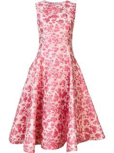 платье с цветочным узором Christian Siriano