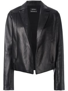 open front leather jacket Anthony Vaccarello