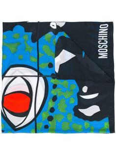 шарф с рисунком 'Face' Moschino