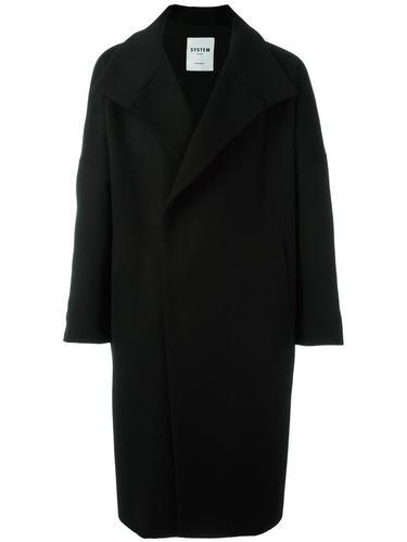 однобортное пальто System Homme
