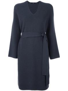 платье-свитер с V-образным вырезом System