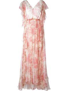 длинное платье с V-образным вырезом Philosophy Di Lorenzo Serafini