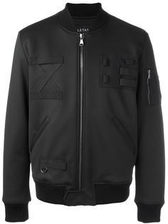 куртка-бомбер с нашивками Letasca