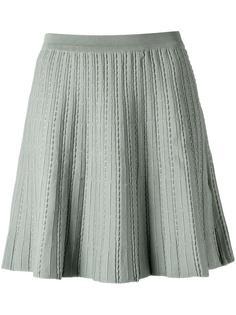 A-line knit skirt Egrey