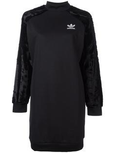 платье-толстовка с бархатными рукавами Adidas Originals