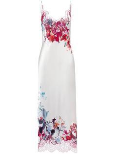 длинная комбинация с цветочным принтом Carine Gilson