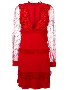 платье с прозрачными вставками Piccione.Piccione