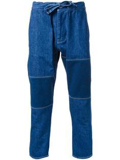 укороченные джинсы на шнурке Biro