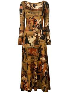 платье с графическим принтом Jean Paul Gaultier Vintage