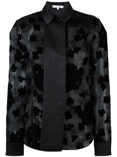 блузка из органзы с цветочным узором Carven