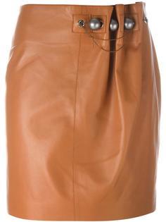 декорированная плиссированная юбка  Loewe