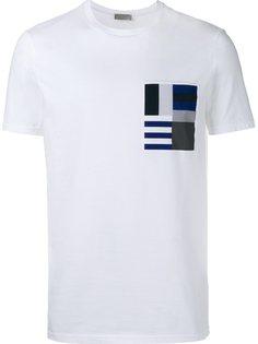 футболка с принтом на кармане  Dior Homme