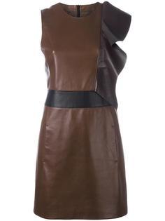 приталенное платье с оборкой Neil Barrett