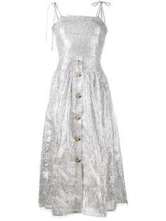 платье без рукавов 'Issy' с отделкой мишурой Rejina Pyo