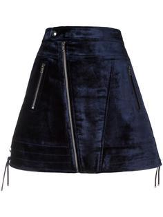 бархатная юбка А-образного силуэта Diesel Black Gold