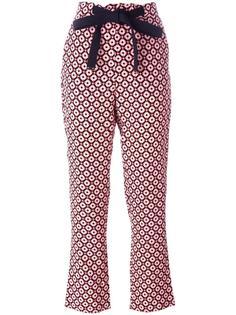 брюки с геометрическим рисунком Marni
