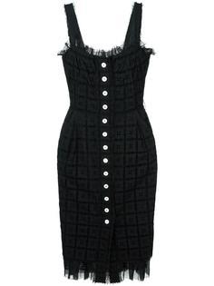 ажурное платье с вышивкой Dolce & Gabbana Vintage