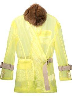 sheer belted jacket Sacai