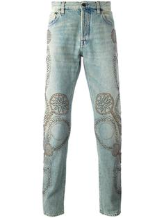 прямые джинсы с заклепками Valentino