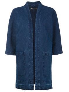 джинсовая куртка с рукавами три четверти 3X1