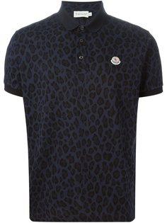 футболка-поло с леопардовым принтом Moncler