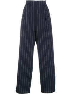 широкие брюки в полоску Ganni