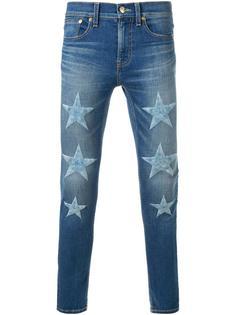 джинсы скинни с вышивкой в виде звезд DressCamp