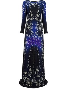 платье с принтом звезд Roberto Cavalli